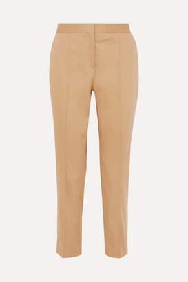 By Malene Birger Santsi Cotton-blend Poplin Tapered Pants - Ecru