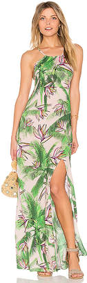 PILYQ Spellbound Long Dress in Green $193 thestylecure.com