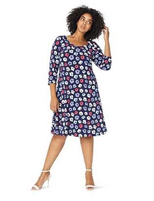 Anne Klein Women's Size Plus Long Sleeve Shirt Dress