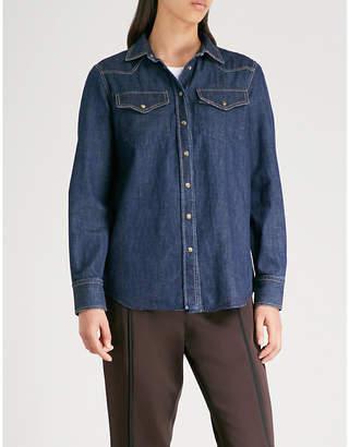 Brunello Cucinelli Contrast-stitching denim shirt
