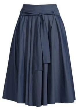 Max Mara Women's Nazario Pleated A-Line Skirt - Midnight Blue - Size 2