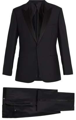 Kilgour Satin Lapel Wool And Mohair Blend Tuxedo - Mens - Navy