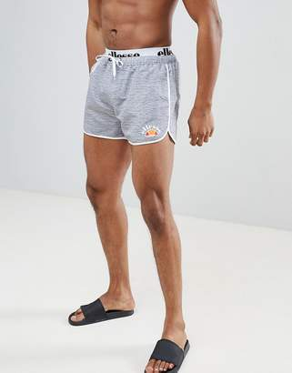 Ellesse Swim Shorts With Elastic Waistband In Gray