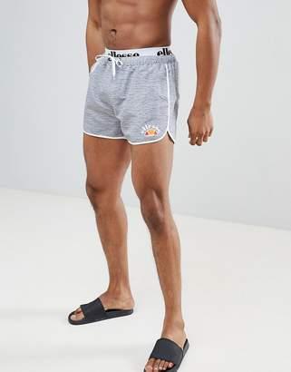 Ellesse Swim Shorts With Elastic Waistband In Grey