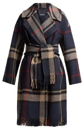 Max Mara S Pioggia Coat - Womens - Navy Multi