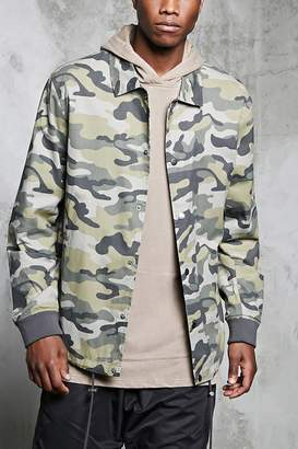 Forever 21 Camo Print Army Jacket