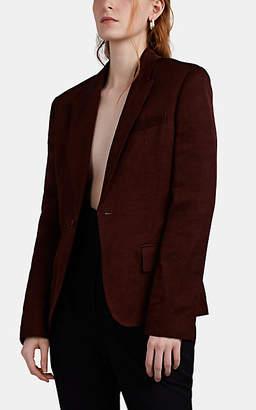 Haider Ackermann Women's Linen-Blend One-Button Blazer - Brown
