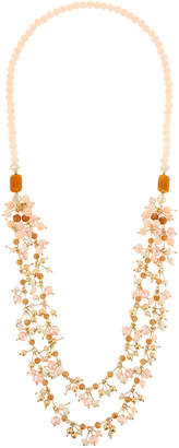 Greenbeads Blush Fringe Necklace ensI2k