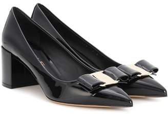 Salvatore Ferragamo Alice Vara Bow patent leather pumps