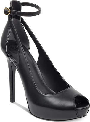 GUESS Holie Detail Dress Platform Pumps Women Shoes