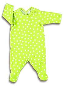 Baby Boum Unisex Baby Grow with Arms and Feet (6 - 12 Months, Lime Green)
