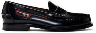 Prada Black Polished Leather Loafers