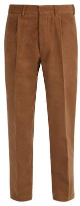 The Gigi - Mid Rise Tapered Cotton Trousers - Mens - Brown