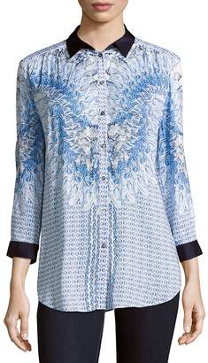 Basler Women's Printed Button-Down Shirt