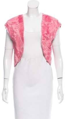 Oscar de la Renta Cropped Lamb Vest w/ Tags