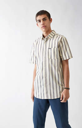 Volcom Mix Bag Striped Short Sleeve Button Up Shirt