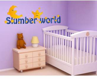 Mural Style and Apply Slumber World Wall Decal - wall print decal, sticker, vinyl art home decor - DS 870 - 47in x 16in