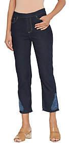 Susan Graver Regular Stretch Denim Pull-OnCrop Pants