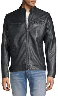 Affliction Liberty Faux Leather Moto Jacket