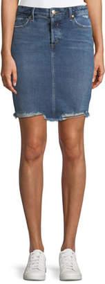 Joe's Jeans Frayed Denim Pencil Skirt