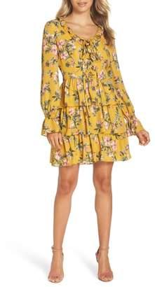 AVEC LES FILLES Floral Ruffle Dress