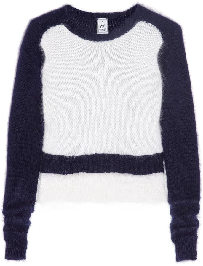 J.W.Anderson Color-block angora sweater