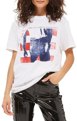 Women's Topshop By And Finally Bruce Springsteen Graphic Tee $50 thestylecure.com