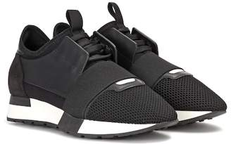 Balenciaga Leather-trimmed sneakers