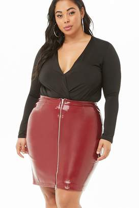 Forever 21 Plus Size Faux Leather Skirt