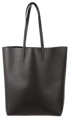 Marni Leather Vertical Tote Black Leather Vertical Tote
