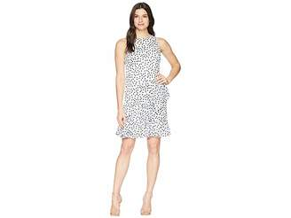 Lauren Ralph Lauren B592 Burnout Dot Georgette Sabramay Sleeveless Day Dress Women's Dress