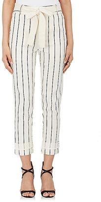 Derek Lam 10 Crosby Women's Striped Twill Utility Pants $450 thestylecure.com