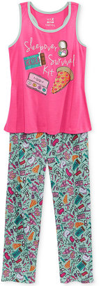 Max & Olivia 2-Pc. Sleepover Survival Kit Pajama Set, Little Girls (2-6X), Big Girls (7-16), Created for Macy's $38 thestylecure.com