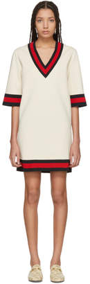 Gucci Beige Jersey V-Neck Dress