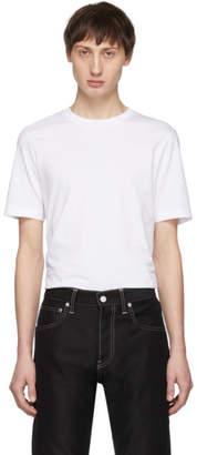 Helmut Lang White Overlay Logo T-Shirt