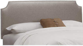Willa Arlo Interiors Doleman Nail Button Solid Wood Upholstered Panel Headboard