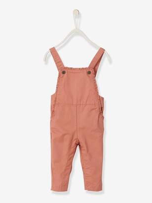 935b2ab20 Vertbaudet Dungarees with Printed Motifs and Small Frills for Baby Girls