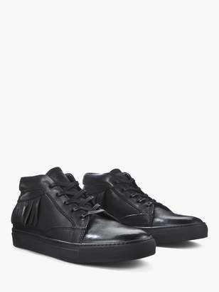 John Varvatos Reed Fringe Mid Top Sneaker
