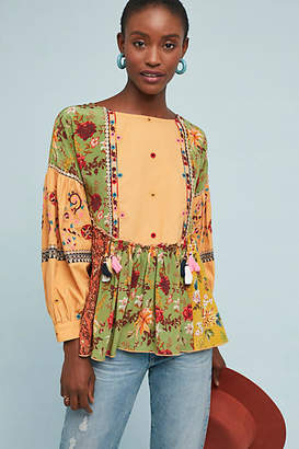 Let Me Be Kelly Patchwork Blouse