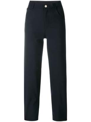 cropped high-waist trousers