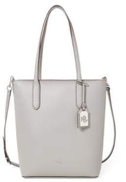 Ralph Lauren Leather Alexis Tote Light Grey/Palomino One Size