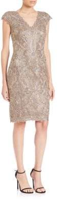 Tadashi Shoji Cap Sleeve Lace Sheath Dress