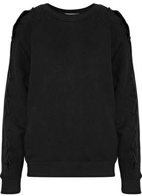IRO Nakina Lace-Up Cotton Sweatshirt