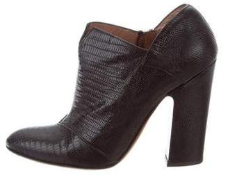 Alaia Embossed High-Heel Booties