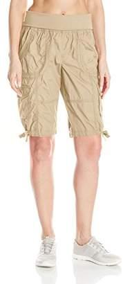 "Calvin Klein Women's Jersey Rollover Waistband Cargo Bermuda Short 12"" Inseam,XL"
