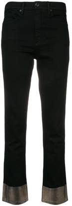 Rag & Bone Jean metallic hem trousers