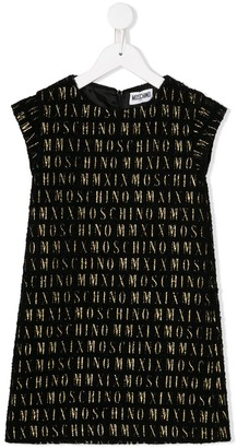 Moschino Kids logo print shift dress