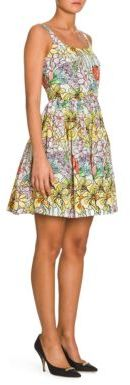 Moschino Floral-Print Silk Dress $1,475 thestylecure.com
