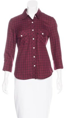 Boy. by Band of Outsiders Plaid Button-Up Top $80 thestylecure.com