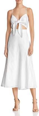 Show Me Your Mumu Moby Tie-Front Midi Dress